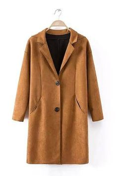 We're vibin all over this tan suedette coat. In on point suedette fabric this single breasted fastening number is the perfect throw-on-and-go. Team over skinny jeans, heels and a basic t-shirt to flaunt what you got!