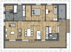 Bungalow Floor Plans, House Floor Plans, Flooring, Architecture, Building, Home, Houses, Floor Layout, Home Plants