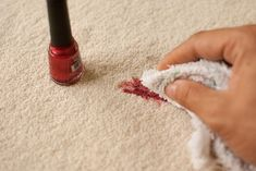 Did you spill the nail polish on the carpet when you are painting your toes? With these simple tips, nobody will know what happened. Things You Need Steps