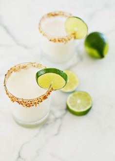 Toasted Coconut Margarita, sub all dairy for coconut milk..#vegan yum-o!