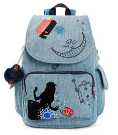 Kipling Women's Disney's Alice In Wonderland City Pack Printed Backpack One Size Cheshire Dreams Kipling Backpack, Denim Backpack, Cat Backpack, Kipling Bags, Fashion Backpack, Mochila Jeans, Cute Mini Backpacks, Blue Backpacks, Disney Handbags