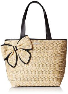 kate spade new york Belle Place Straw Summer Shoulder Bag