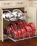 """RAS-5CW2-2122-CR - Rev-A-Shelf 20-3/4""""W Two-Tier Cookware Organizer - (Chrome)"""