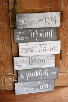 Signs made of wood / metal - foto atelier schmid - rustic - . Signs made of wood / metal – foto atelier schmid – rustic items – # Japanese Poster Design, Apple Decorations, Diy Wood Signs, Metal Signs, Decoration Table, Deco Mesh Wreaths, Typography Poster, Made Of Wood, Wooden Diy