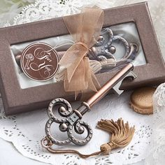 Vintage Skeleton Key Bottle Opener from Wedding Favors Unlimited, love this one the most!