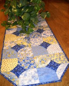 Made from charm pack - how easy! More Summer Breeze Fabric.