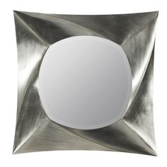 Features:Beveled mirrorFinish: Brushed silverModern styleMount Type: Wall MountedMirror T...