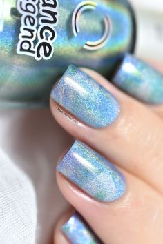 Smooshy marble nail art and wave stamping.