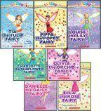 Tia the Tulip Fairy, Pippa the Poppy Fairy, Louise the Lily Fairy, Charlotte the Sunflower Fairy, Olivia the Orchid Fairy, Danielle the Daisy Fairy, and Ella the Rose Fairy (Rainbow Magic)