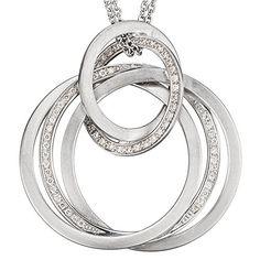 Damen-Collier teilmattiert 14 Karat (585) Weißgold 69 Diamant 0.35 ct. 42 cm 36.2 mm Karabinerverschluss Dreambase http://www.amazon.de/dp/B00N5BM1X0/?m=A37R2BYHN7XPNV