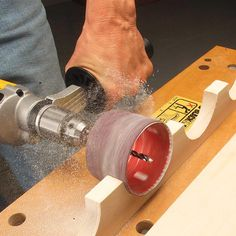 A simple method for creating a drum sander that is project specific