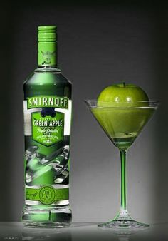Apple and Smirnoff green