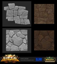 "Hello guys ! I would like to share with you my work done on World of Warcraft as texture artist for the new patch ""Siege Of Orgrimmar""."