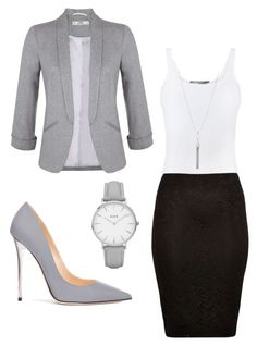 """""""Grey Workday"""" by sarita-rahrah on Polyvore featuring Vince, Miss Selfridge, River Island, Jimmy Choo, Kenneth Cole and Topshop"""