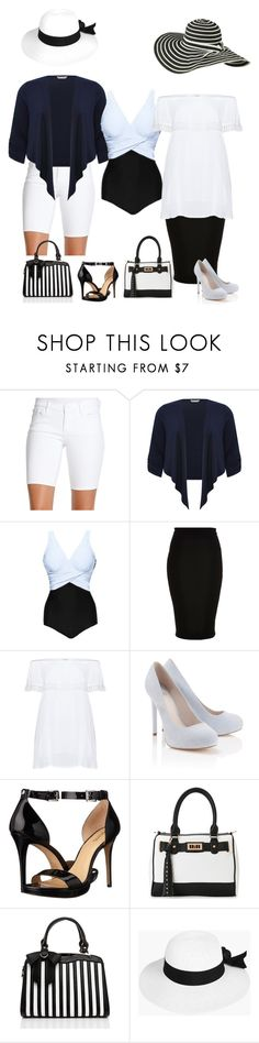 """""""263. One-piece Bathingsuit with extras."""" by kristina-lindstrom ❤ liked on Polyvore featuring Jessica Simpson, M&Co, River Island, Zizzi, Lipsy, MICHAEL Michael Kors, IMoshion, Jezzelle, Boohoo and plus size clothing"""