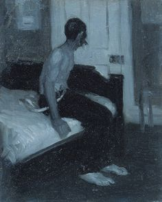 Edward Hopper, Man Seated on a Bed, 1905-6