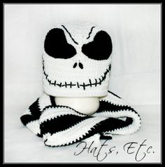 Crochet Hat INSPIRED by Jack Skellington with Matching by hatpyle, $25.00