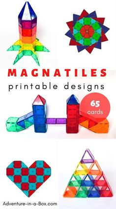 Looking for new Magna Tiles designs to try? Here are our favourite Magna Tile id… Looking for new Magna Tiles designs to try? Here are our favourite Magna Tile ideas to build, with printable cards for inspiration. Preschool Learning Activities, Fun Learning, Toddler Activities, Preschool Activities, Monster Activities, Kindergarten Stem, Family Activities, Printable Cards, Printable Designs
