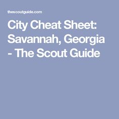 From antiques shops to walking tours to where to enjoy cocktails with a view, Alison Seeger shares her favorite Savannah spots. Florida Georgia Line, Georgia On My Mind, Savannah Georgia, Savannah Chat, Charlestown South Carolina, The Scout Guide, Vacation Days, Tybee Island, Cheat Sheets