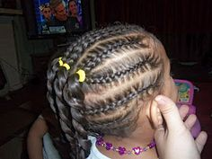 cornrows and two strand twist