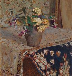❀ Blooming Brushwork ❀ - garden and still life flower paintings - Edouard Vuillard  Fuchsias and French Marigolds  1903