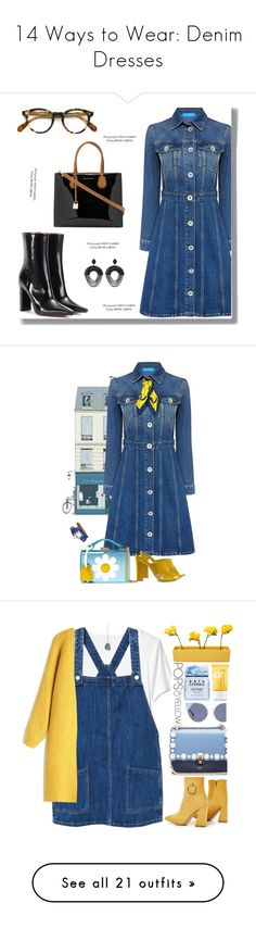 """""""14 Ways to Wear: Denim Dresses"""" by polyvore-editorial ❤ liked on Polyvore featuring denimdresses, waystowear, Thakoon, Vetements, MICHAEL Michael Kors, Oliver Peoples, Mark Cross, Gianvito Rossi, Hermès and hermes"""