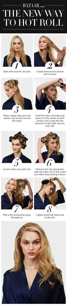Need to make a hair change for fall? Try switching up your hot rollers routine | DIY Hair