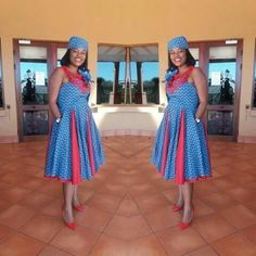 Ideas of Shweshwe Styling with Modern Outfits - Reny styles African Fashion Designers, African Inspired Fashion, African Men Fashion, African Dresses For Women, African Print Dresses, African Attire, African Wear, African Fashion Dresses, Xhosa Attire