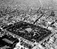 Stephen's Green & beyond. Old perspective over Dublin Old Pictures, Old Photos, Photo Engraving, Dublin City, Kingdom Of Great Britain, Diesel Locomotive, Republic Of Ireland, Dublin Ireland, Northern Ireland