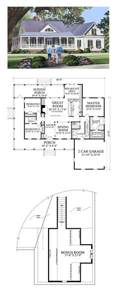 Best Selling House Plan 86344 Total Living Area: 2010 SQ FT, 3 bedrooms and bathrooms. New House Plans, Dream House Plans, Small House Plans, My Dream Home, Dream Houses, Log Houses, Country House Plans, Country Farmhouse Decor, Farmhouse Plans