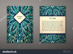 Flyer With Floral Mandala Pattern And Ornaments. Vector Flyer Oriental Design Layout Template, Size. Islam, Arabic, Indian, Ottoman Motifs. Front Page And Back Page. Easy To Use And Edit. - 415556980 : Shutterstock