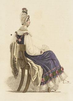 Half-dress, fashion plate; October 1816 London: