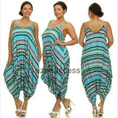 """Plus size harem Romper palazzo Jumpsuit jumpsuit Brand new without tags The color may vary brighter / lighter than the actual product, KINDLY CHECK MEASUREMENTS. stripe  print. Nice weight fabric not thin one. Perfect for fall. Boho chic trendy. Oversized Loose fit drape harem Romper jumpsuit . PIT TO PIT : 1X  : 23: 2X : 24"""" 3X : 25"""" Boutique  Pants Jumpsuits & Rompers"""