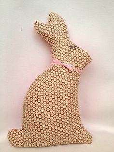 ○ Pink Easter Bunny softie plush soft toy pink by dewberryworkshop.