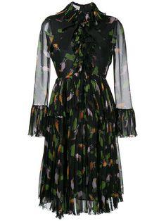 Gucci toucan print ruffle dress at farfetch.com.