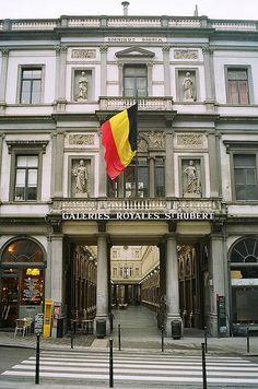 Galeries Royales St. Hubert in Brussels, BELGIUM