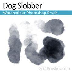 """""""Dog Slobber"""" Photoshop Watercolour brush"""