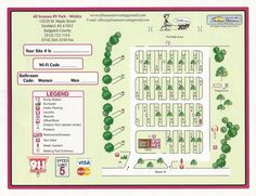 Use our site map to get an idea of the layout of our park and choose your favorite site! Rv Travel, Outdoor Travel, Rv Camping, Campsite, Rv Parks And Campgrounds, Rv Sites, Vintage House Plans, Rv Organization, Mini Farm