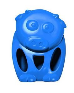 KONG Quest Critter Cow Triple Threat Interactive Fun Play Pet Dog Chew Toy Small