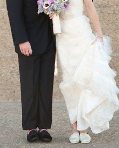A TOMS wedding // shoes  TOMS TOMSshoes One for One OneforOne fashion style bride groom