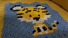 Hæklet c2c tiger klud - henvisning til opskrift C2c, Kids Rugs, Blog, Decor, Threading, Decoration, Kid Friendly Rugs, Blogging, Decorating