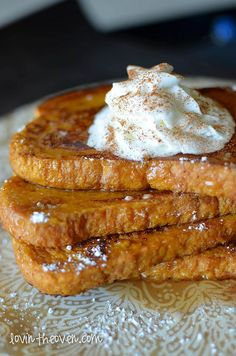 Pumpkin Pie French Toast - I decided to use a french sliced bread for this recipe, but you can use what you have on hand. The thicker the bread, the better. I also like using french bread because I can make more manageable portions of food to eat.
