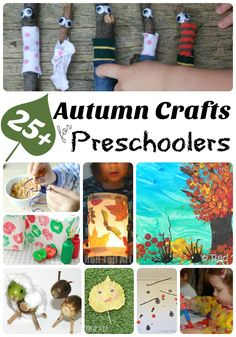 Oh how we love AUTUMN! Here is a brilliant set of Autumn Crafts for Preschoolers. Crafting with Tots and Preschoolers in Fall is a wonderful experience. They adore the process and we love the results. Hope you like this great mix or nature crafts and ar Easy Fall Crafts, Fall Crafts For Kids, Toddler Crafts, Fun Crafts, Arts And Crafts, Simple Crafts, Paper Crafts, Preschool Art Activities, Autumn Activities For Kids