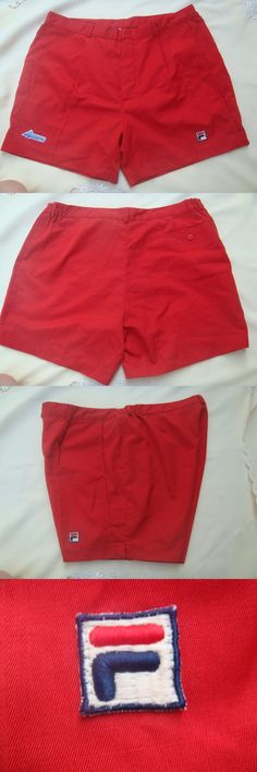 Shorts 70902: Vintage Fila Bj Bjorn Borg Azzura Red Tennis Shorts Large 38 80S Retro Nwot BUY IT NOW ONLY: $89.0