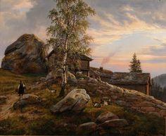Johan Christian Dahl (1788–1857), Gård i Ytre Kroken, Sogn - 1838