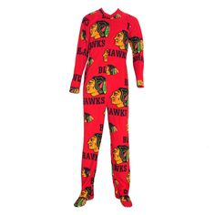 CHICAGO BLACKHAWKS COLLEGE CONCEPTS RAMBLE MICRO FLEECE UNION SUIT - MEN