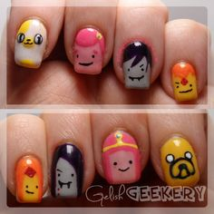 Gelish Adventure Time Nails