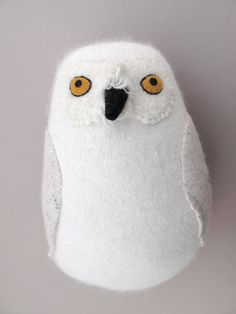 expressive owl (upcycled sweater or sock?) by Mimi Kirchner