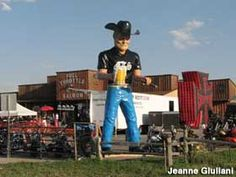 Beer Mug Cowboy outside the Full Throttle Saloon in Sturgis.