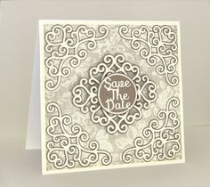 Swirly Corner Set 3 Card cutting files by Bird